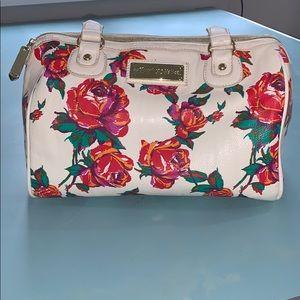 Betsey Johnson purse cream w/roses